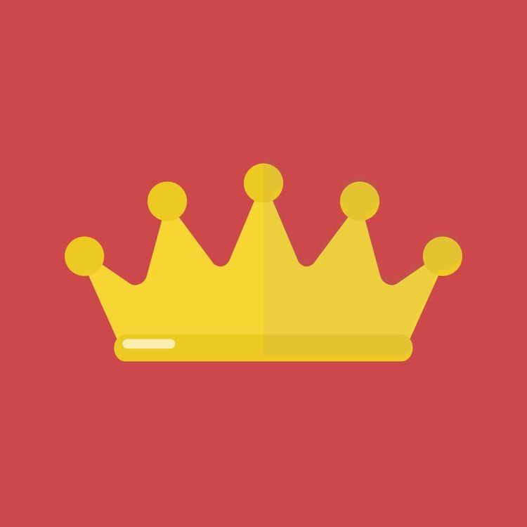 Shinny gold Crown red background